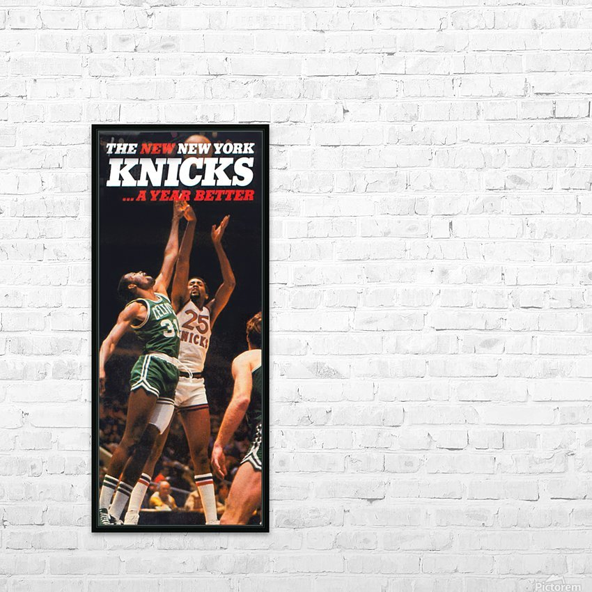 1980 new york knicks poster bill cartwright cedric maxwell HD Sublimation Metal print with Decorating Float Frame (BOX)