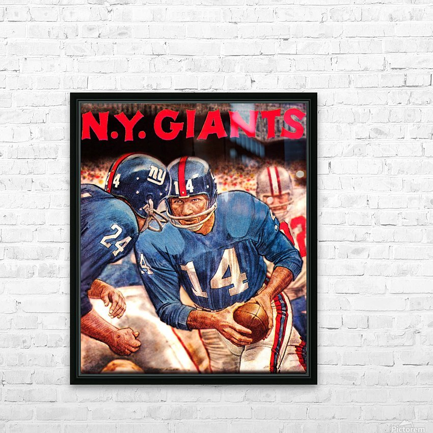 vintage new york giants nfl art poster HD Sublimation Metal print with Decorating Float Frame (BOX)