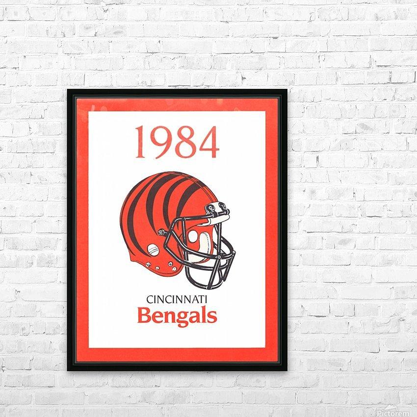 1984 cincinnati bengals retro helmet poster HD Sublimation Metal print with Decorating Float Frame (BOX)