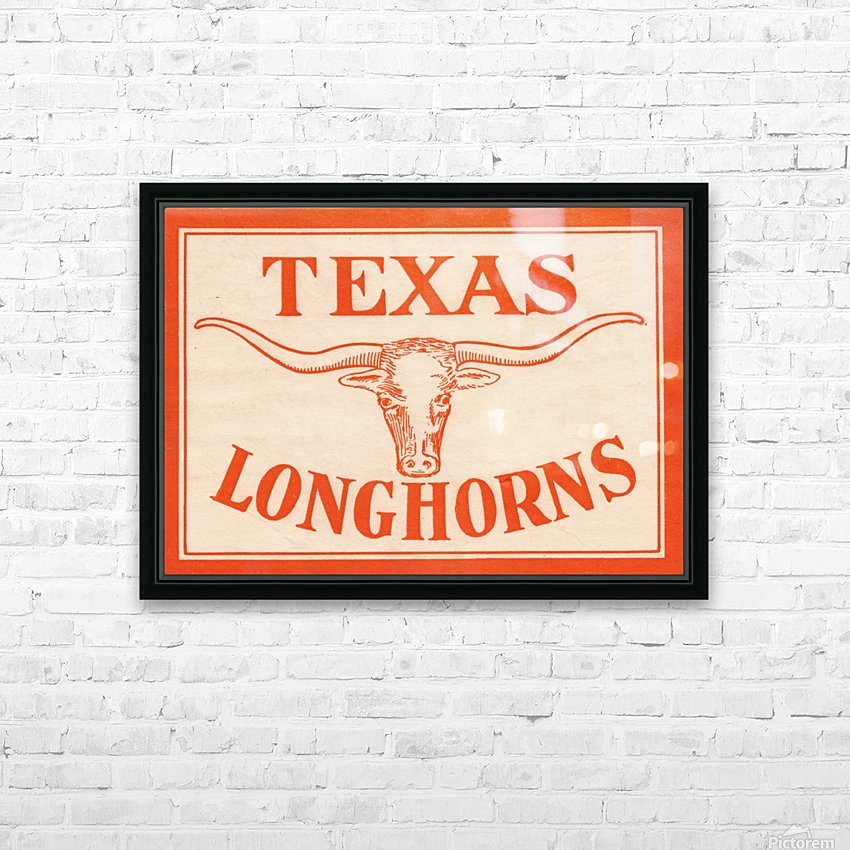 vintage texas longhorns metal sign best college signs HD Sublimation Metal print with Decorating Float Frame (BOX)
