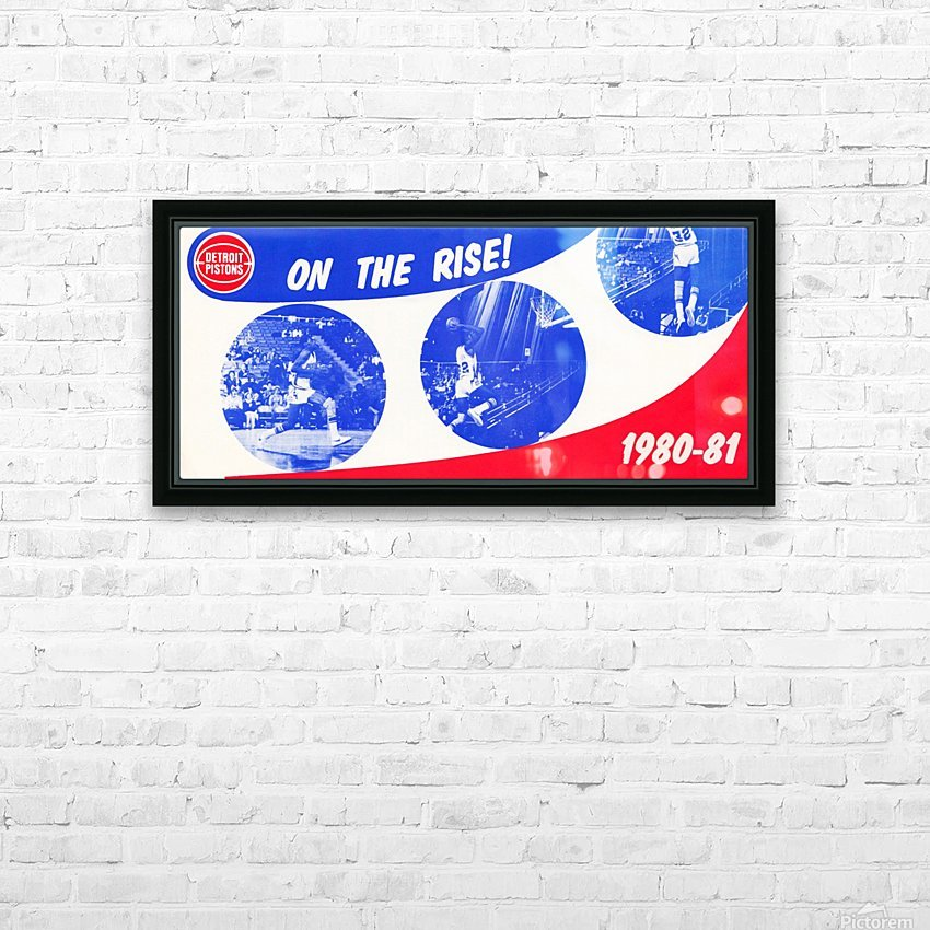 1980 detroit pistons nba basketball poster on the rise HD Sublimation Metal print with Decorating Float Frame (BOX)