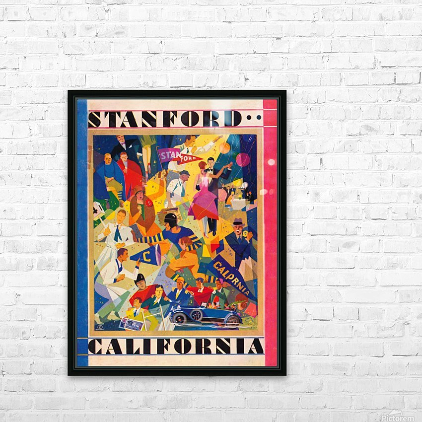 1928 cal stanford football program cover artwork for walls HD Sublimation Metal print with Decorating Float Frame (BOX)
