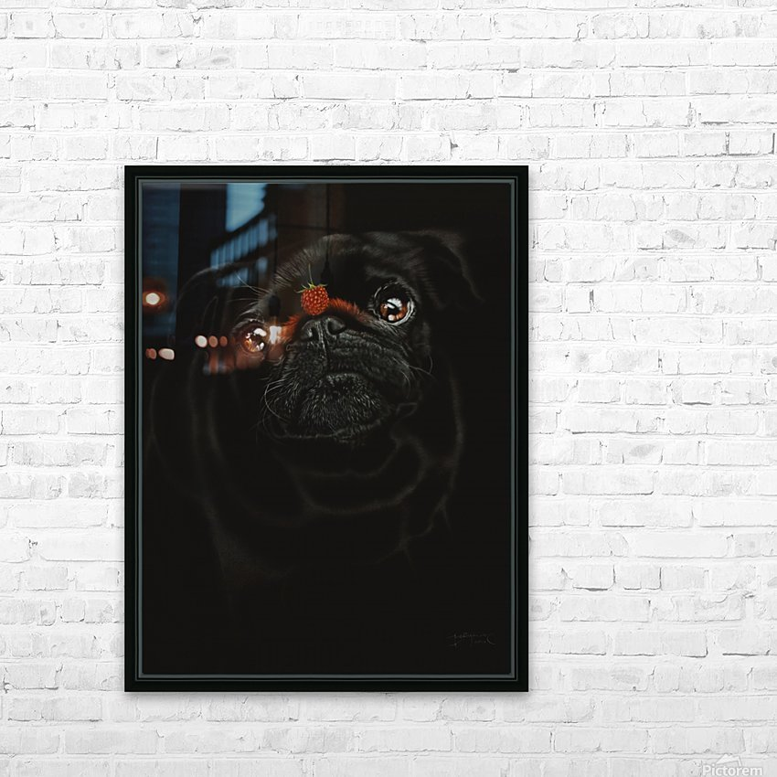 RASPBERRY PUG_COLOR PENCIL_51X69.30 HD Sublimation Metal print with Decorating Float Frame (BOX)