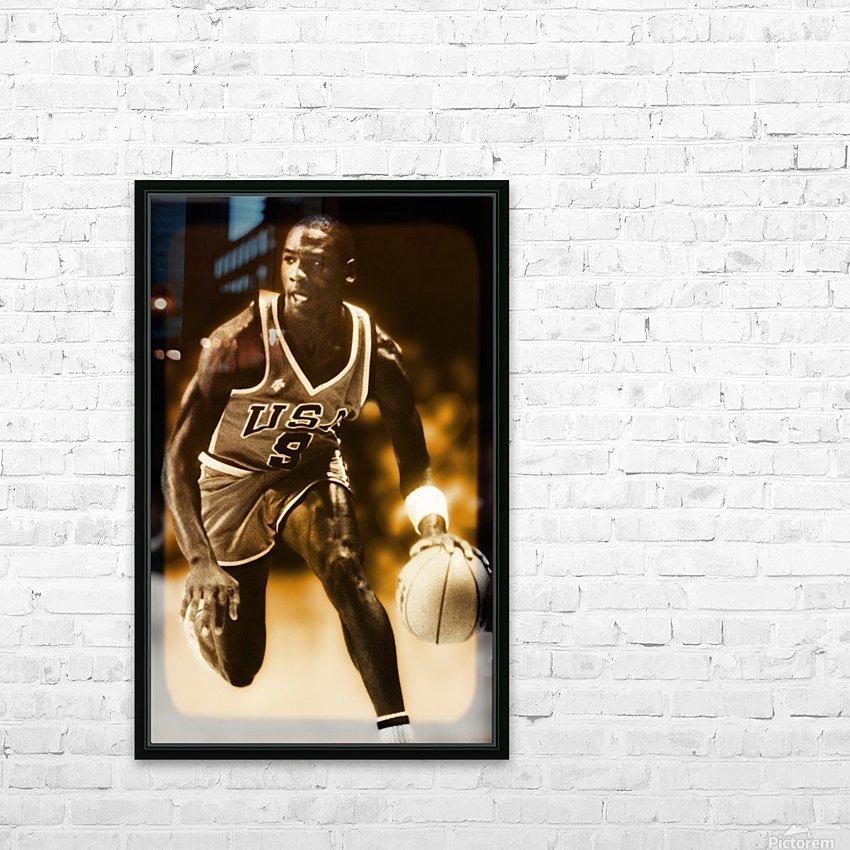 1984 michael jordan usa olympic basketball team HD Sublimation Metal print with Decorating Float Frame (BOX)