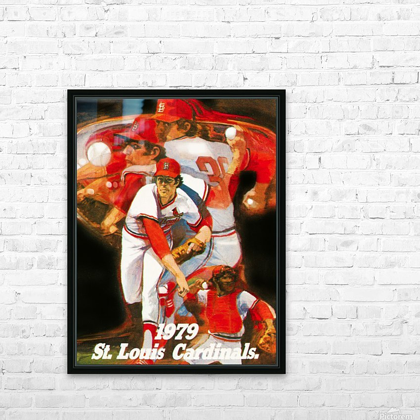 1979 st louis cardinals retro baseball poster HD Sublimation Metal print with Decorating Float Frame (BOX)
