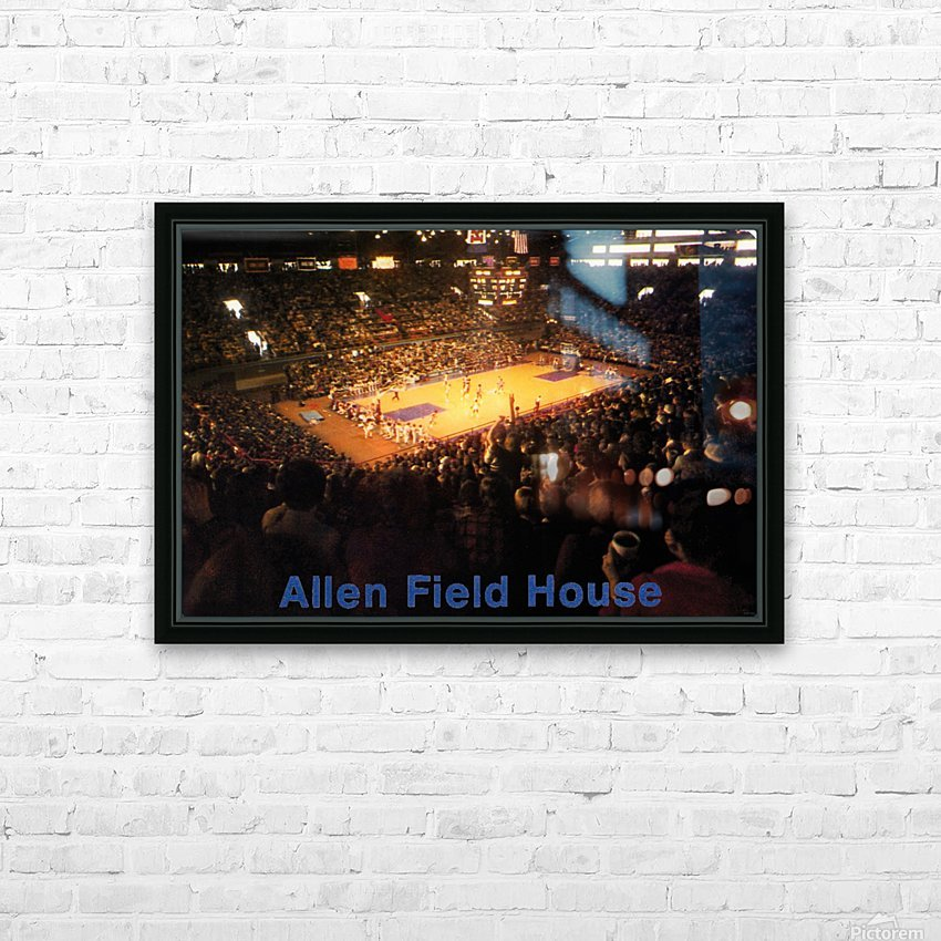 Vintage Allen Field House KU Basketball Photos HD Sublimation Metal print with Decorating Float Frame (BOX)