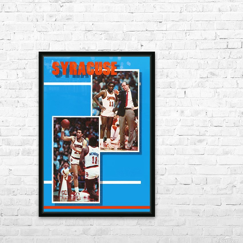 1986 syracuse basketball greg monroe jim boeheim photo HD Sublimation Metal print with Decorating Float Frame (BOX)