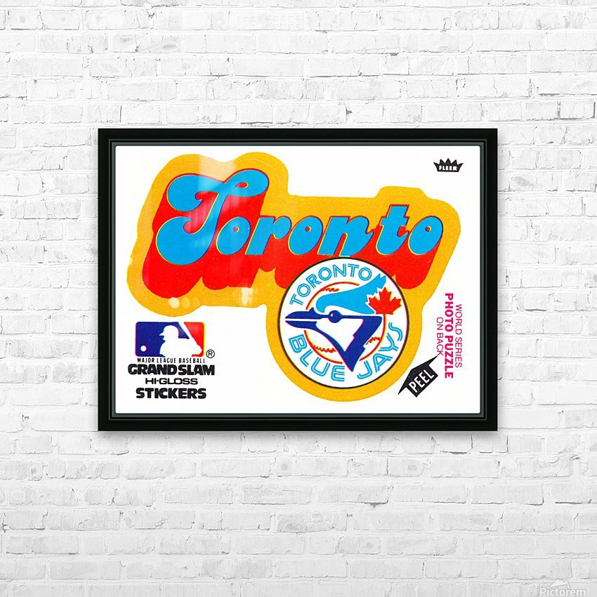 1978 toronto blue jays fleer decal baseball art reproduction poster HD Sublimation Metal print with Decorating Float Frame (BOX)