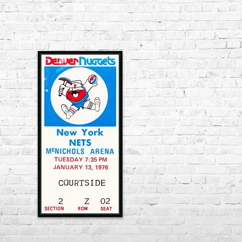1976 denver nuggets vintage ticket stub art HD Sublimation Metal print with Decorating Float Frame (BOX)