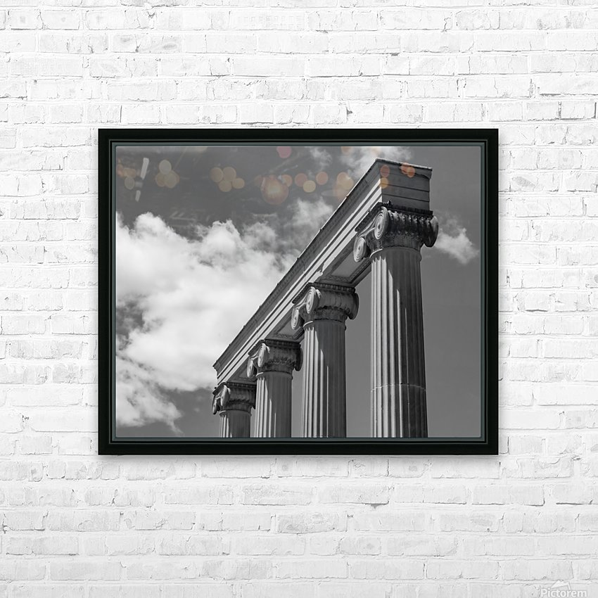 KIng West Columns HD Sublimation Metal print with Decorating Float Frame (BOX)