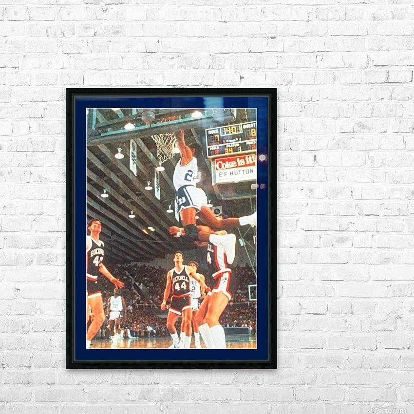 1984 johnny dawkins duke basketball dunk poster (1) HD Sublimation Metal print with Decorating Float Frame (BOX)