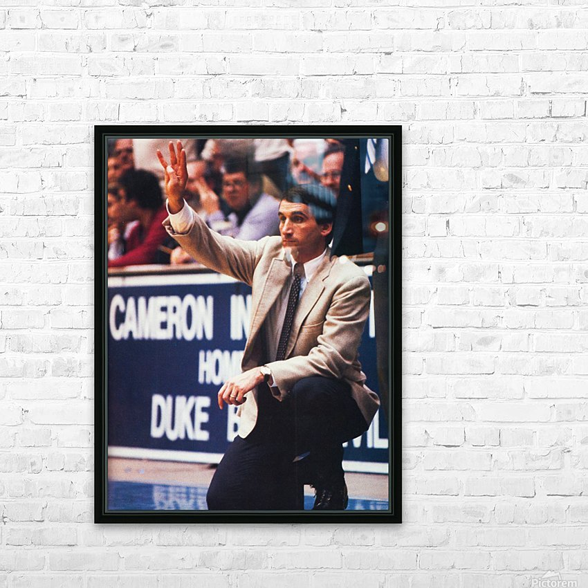 college basketball art coach k duke university basketball poster HD Sublimation Metal print with Decorating Float Frame (BOX)
