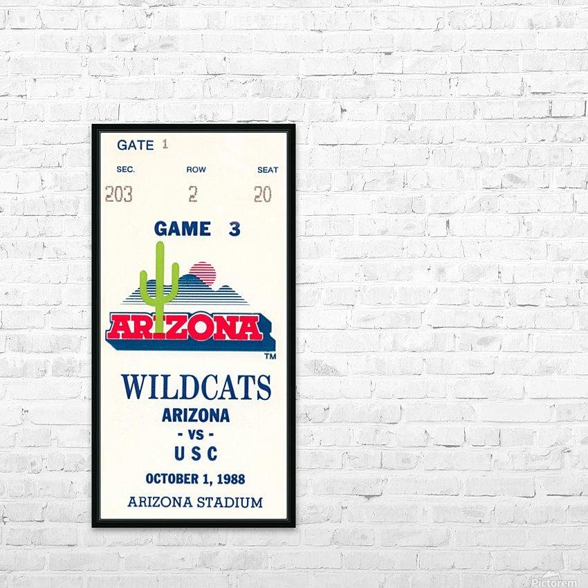 1988 arizona wildcats football vintage ticket stub canvas art HD Sublimation Metal print with Decorating Float Frame (BOX)