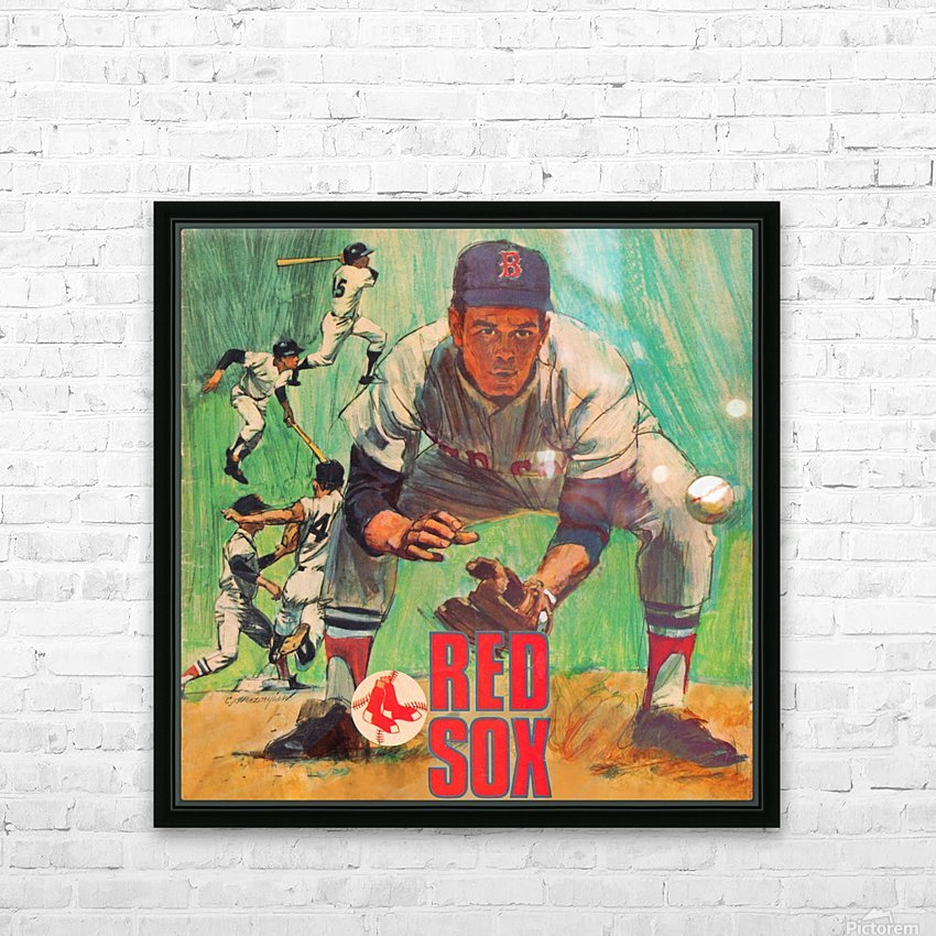 vintage boston red sox best metal sports signs for the garage HD Sublimation Metal print with Decorating Float Frame (BOX)