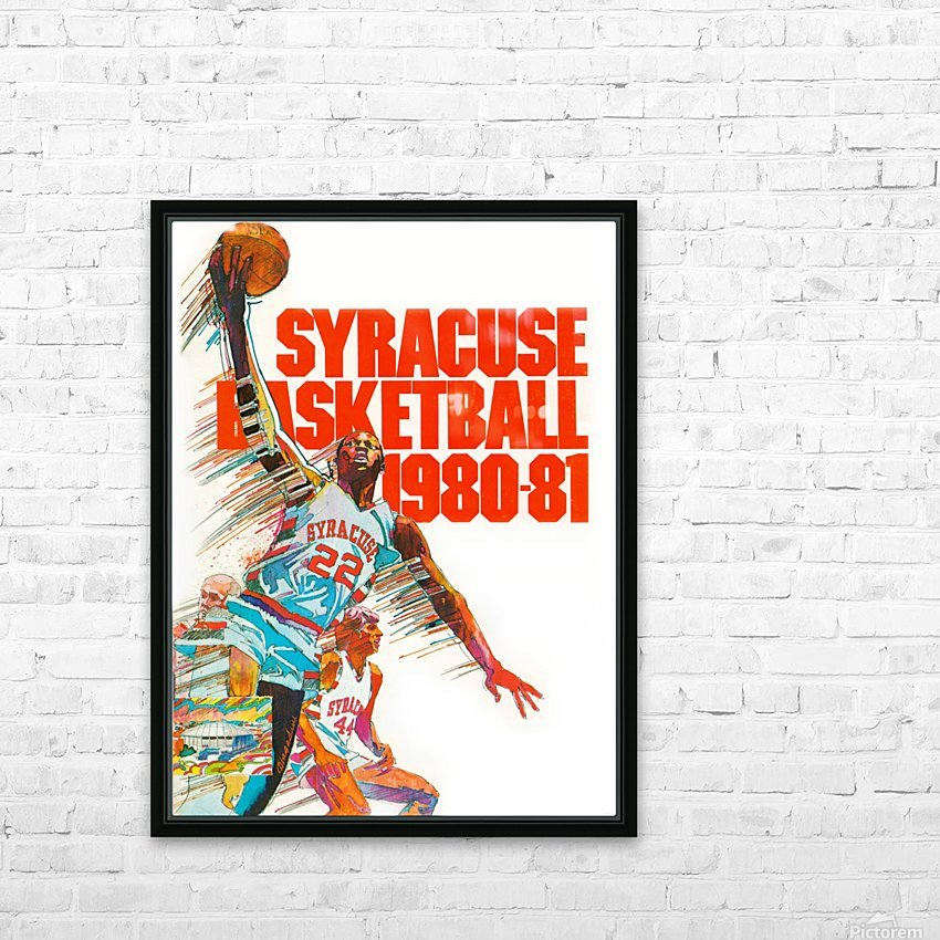 1980 syracuse orange basketball poster HD Sublimation Metal print with Decorating Float Frame (BOX)