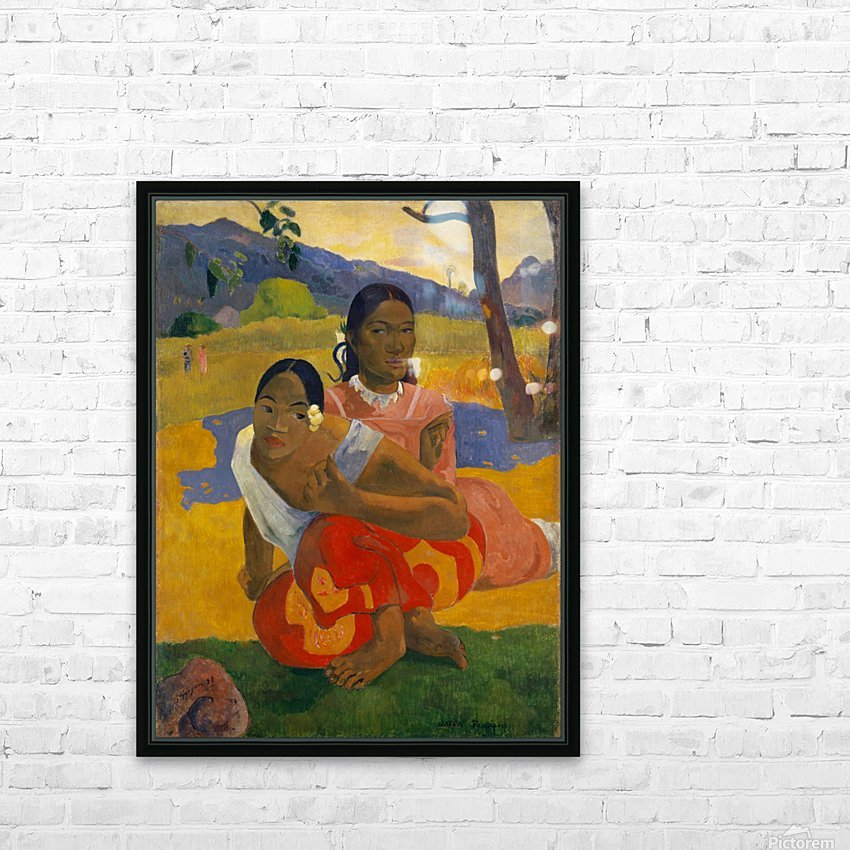 Paul Gauguin: When Will You Marry HD 300ppi HD Sublimation Metal print with Decorating Float Frame (BOX)