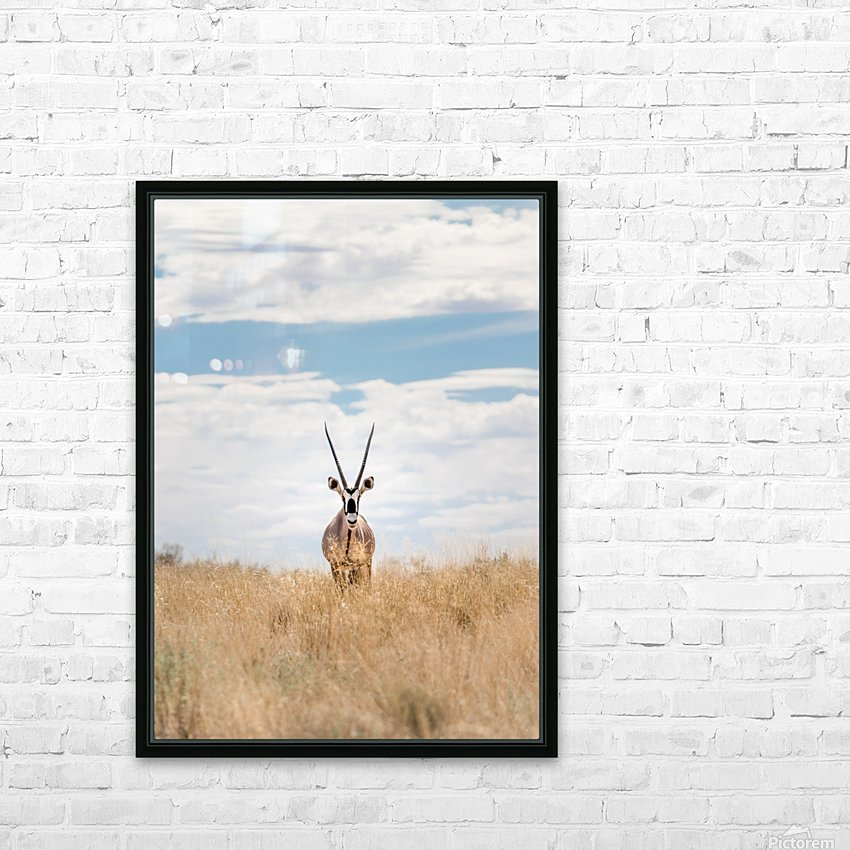The Staredown HD Sublimation Metal print with Decorating Float Frame (BOX)