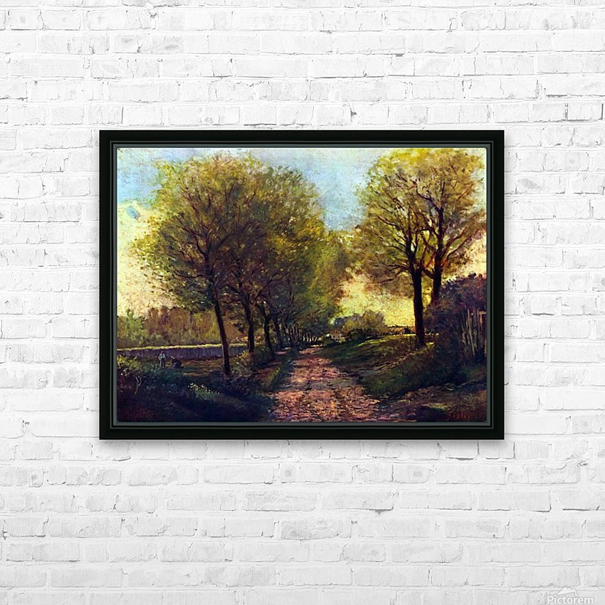 Lane near a small Town by Sisley HD Sublimation Metal print with Decorating Float Frame (BOX)