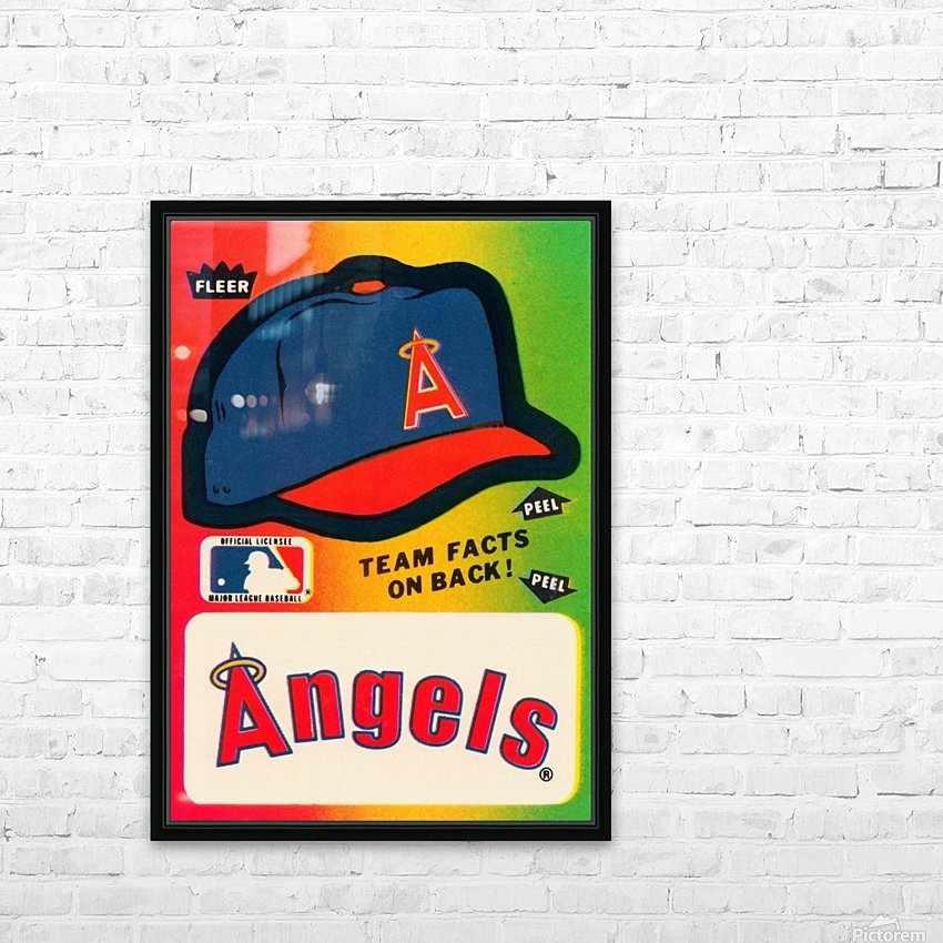 1983 fleer baseball sticker california angels poster HD Sublimation Metal print with Decorating Float Frame (BOX)