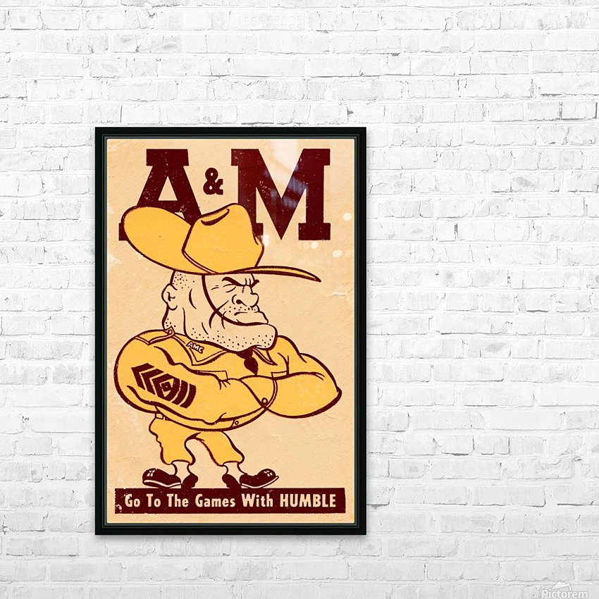 Vintage Texas A&M Ol Sarge Art HD Sublimation Metal print with Decorating Float Frame (BOX)