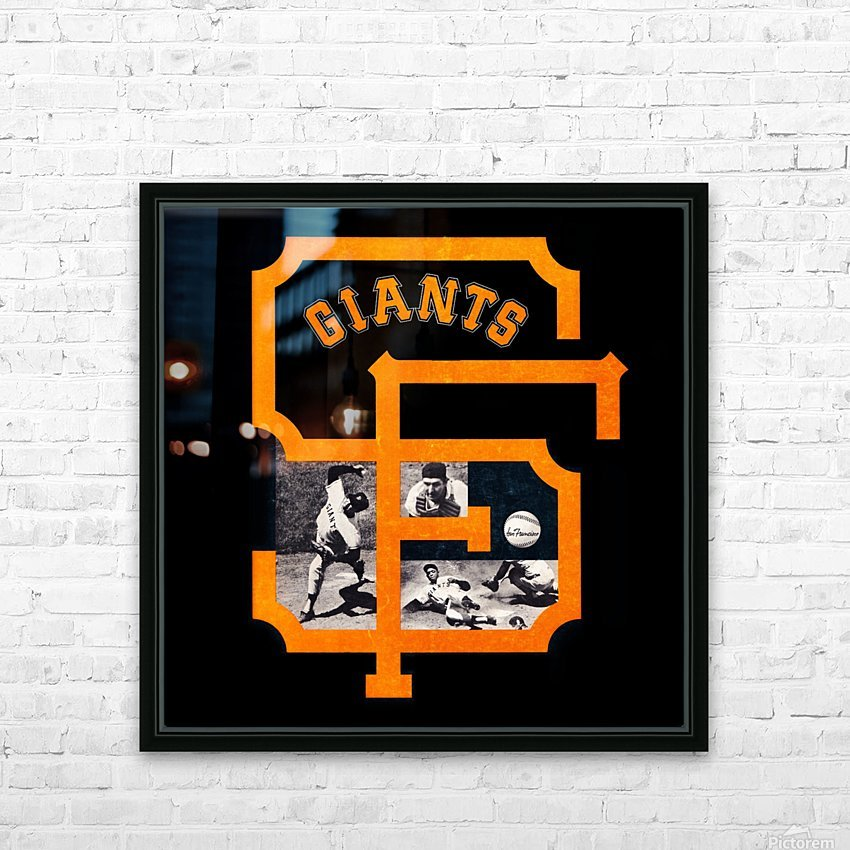Vintage San Francisco Giants Acrylic Wall Art Sign HD Sublimation Metal print with Decorating Float Frame (BOX)
