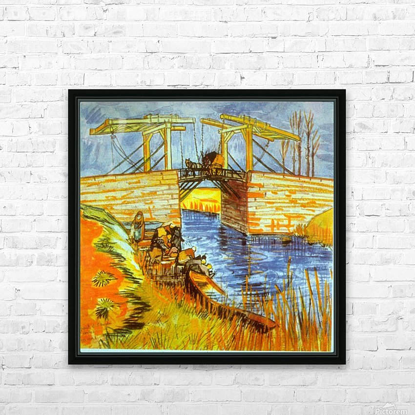 Langlois by Van Gogh HD Sublimation Metal print with Decorating Float Frame (BOX)