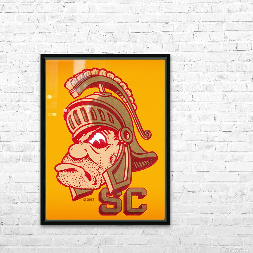 best vintage college mascots usc trojans art print HD Sublimation Metal print with Decorating Float Frame (BOX)