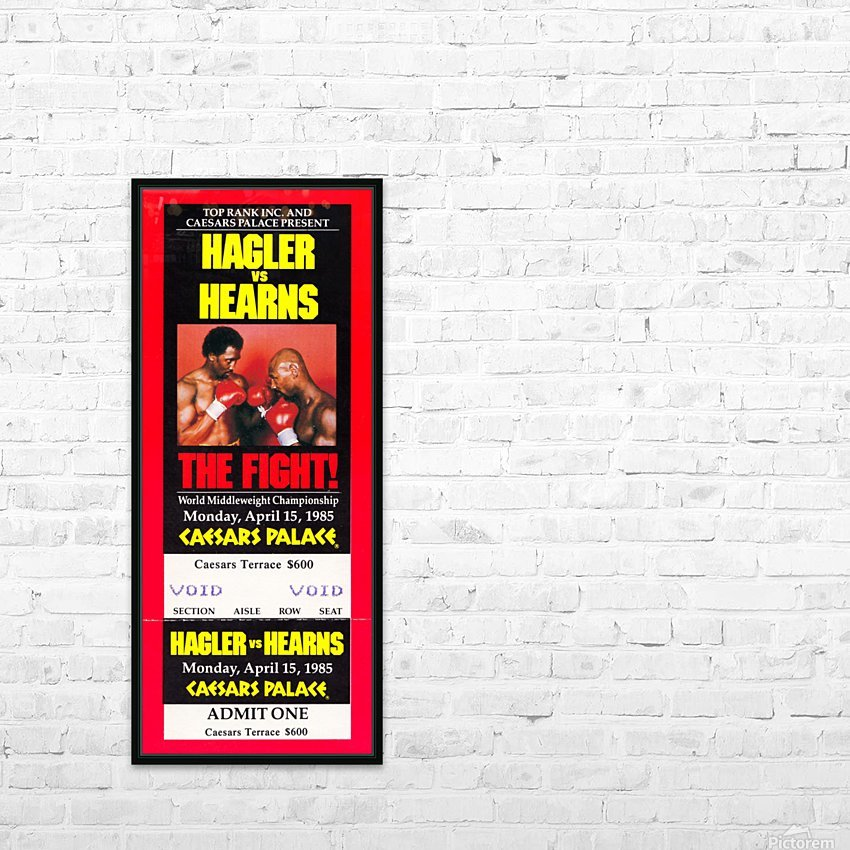 1985 hagler hearns boxing match caesars palace las vegas the fight HD Sublimation Metal print with Decorating Float Frame (BOX)