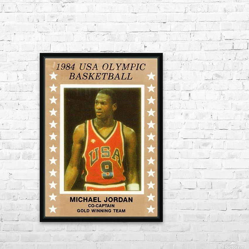 1984 usa olympic basketball gold medal michael jordan wood print HD Sublimation Metal print with Decorating Float Frame (BOX)