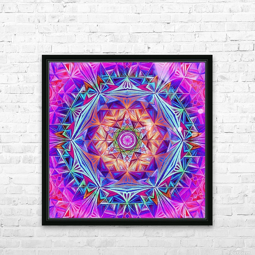 Sacred Geometry Mandala Handdrawing HD Sublimation Metal print with Decorating Float Frame (BOX)