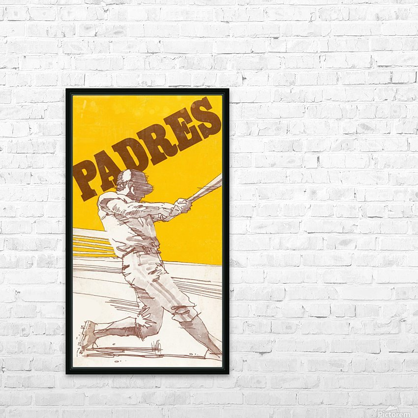 1974 san diego padres art reproduction HD Sublimation Metal print with Decorating Float Frame (BOX)