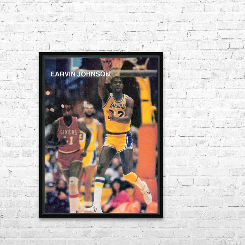 1983 Magic Johnson LA Lakers Retro Poster HD Sublimation Metal print with Decorating Float Frame (BOX)