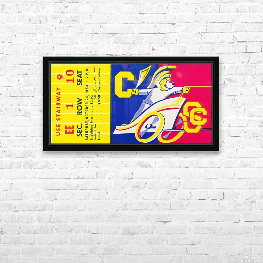 1953_College_Football_California vs. Southern Cal_California Memorial Stadium HD Sublimation Metal print with Decorating Float Frame (BOX)