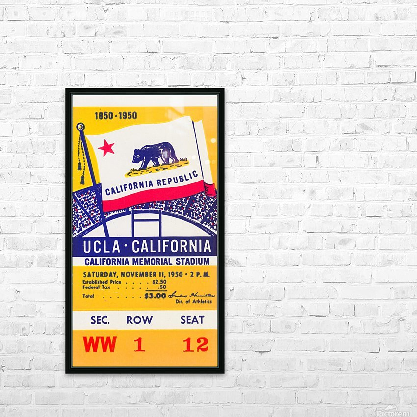 1950_College_Football_California vs. UCLA_California Memorial Stadium HD Sublimation Metal print with Decorating Float Frame (BOX)