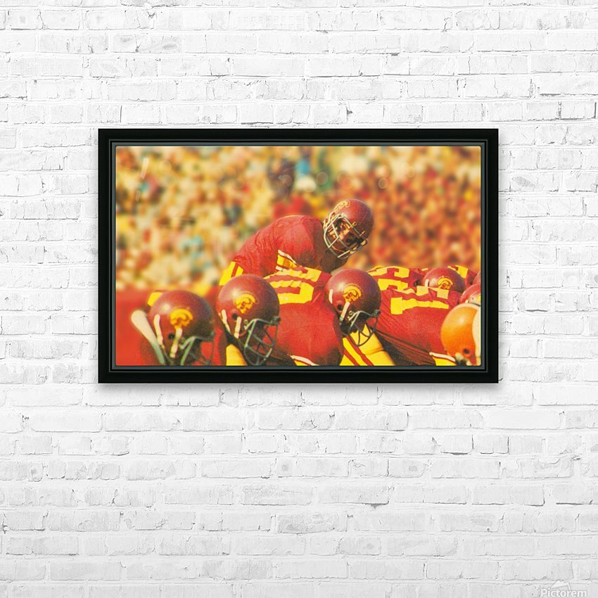 row one brand vintage 1976 national champions usc football art HD Sublimation Metal print with Decorating Float Frame (BOX)