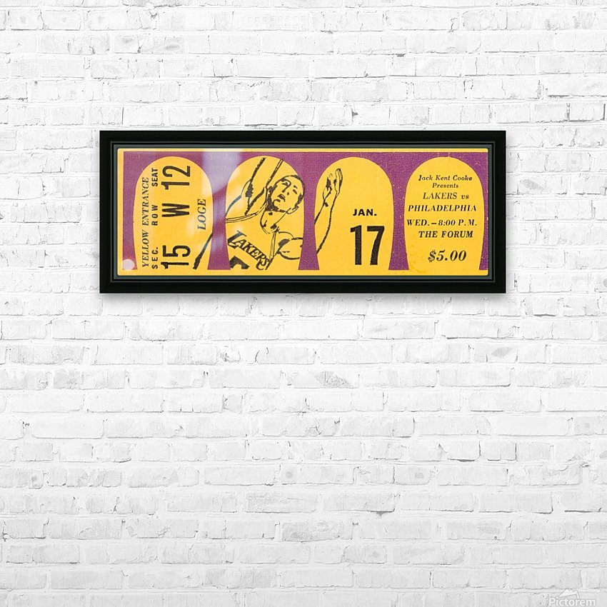 Jerry West 39 points 1968 la lakers nba basketball ticket stub art HD Sublimation Metal print with Decorating Float Frame (BOX)