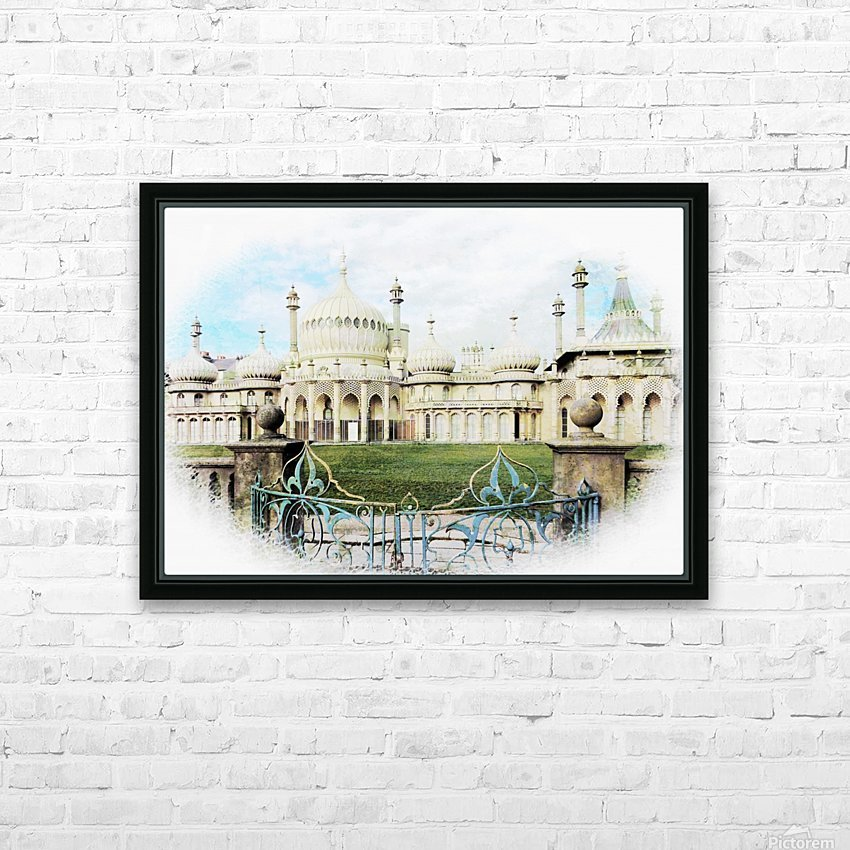 Brighton Pavilion Street View HD Sublimation Metal print with Decorating Float Frame (BOX)