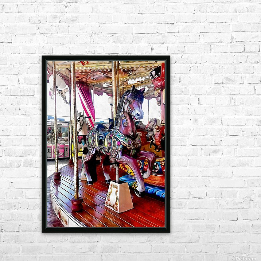 Merry Go Round Horses HD Sublimation Metal print with Decorating Float Frame (BOX)