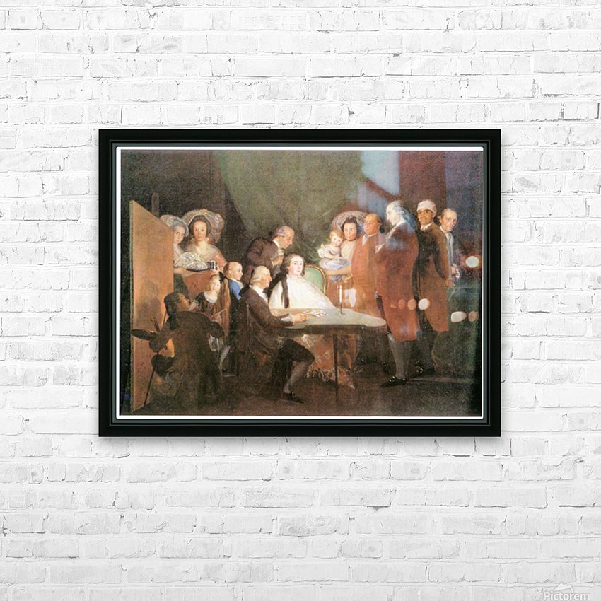 La_famille_de_l_infant_Don_Louis_1783 by Goya HD Sublimation Metal print with Decorating Float Frame (BOX)