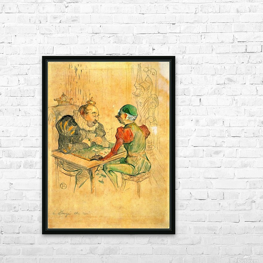 Le Bezigue by Toulouse-Lautrec HD Sublimation Metal print with Decorating Float Frame (BOX)