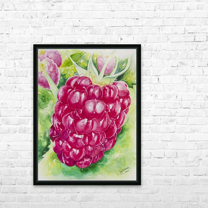 Summer Flavor: Raspberry I HD Sublimation Metal print with Decorating Float Frame (BOX)