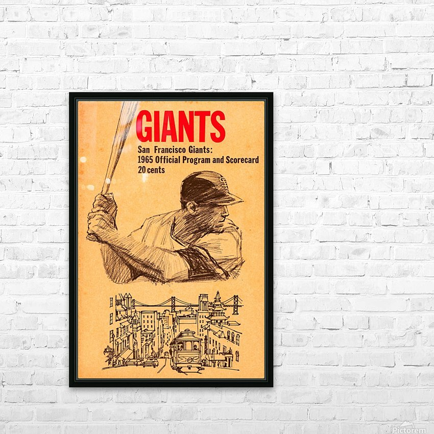 1965 san francisco giants baseball program scorecard art HD Sublimation Metal print with Decorating Float Frame (BOX)