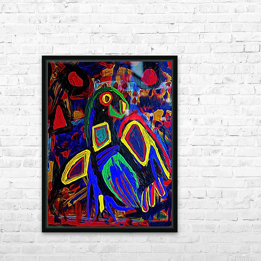 Abstract Bird HD Sublimation Metal print with Decorating Float Frame (BOX)