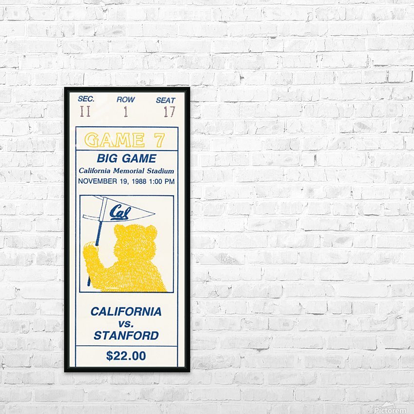 1988 Cal vs. Stanford HD Sublimation Metal print with Decorating Float Frame (BOX)