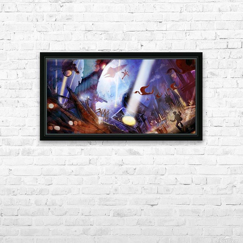 Lights On - Alien Megastructure Rama V HD Sublimation Metal print with Decorating Float Frame (BOX)