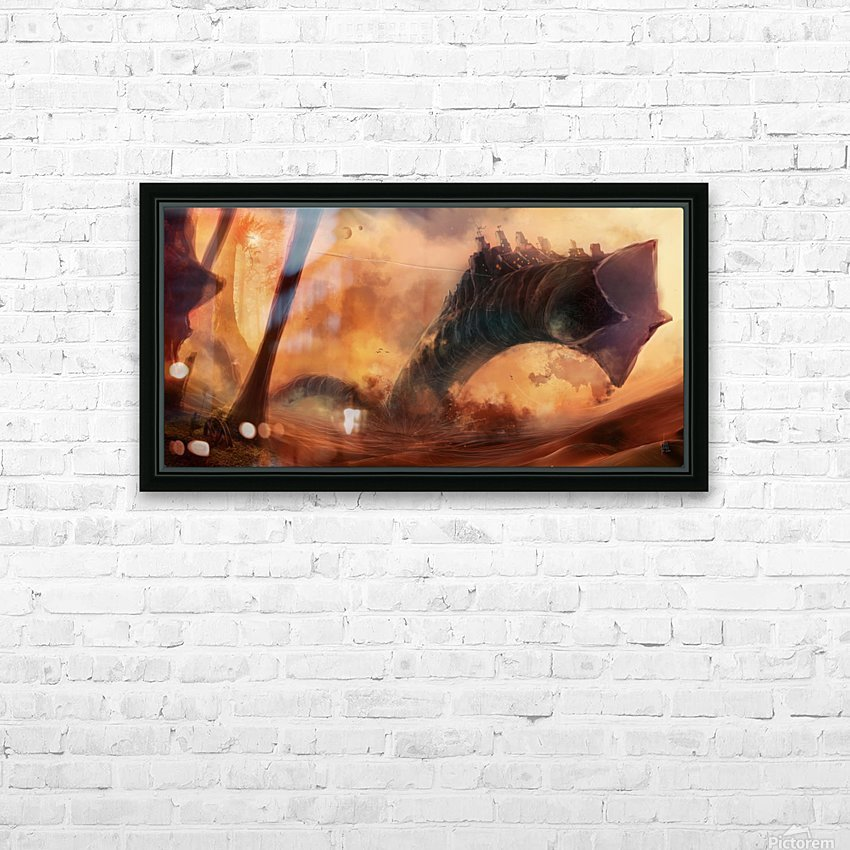 Dune World HD Sublimation Metal print with Decorating Float Frame (BOX)