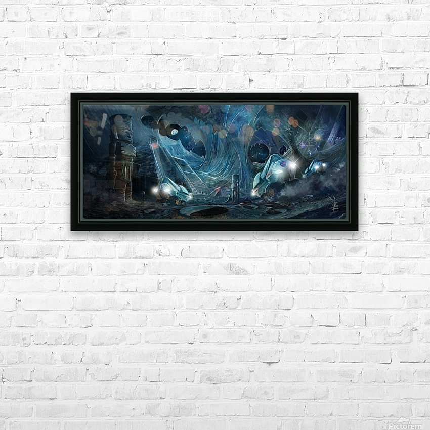 Ancient Aliens on the Moon HD Sublimation Metal print with Decorating Float Frame (BOX)
