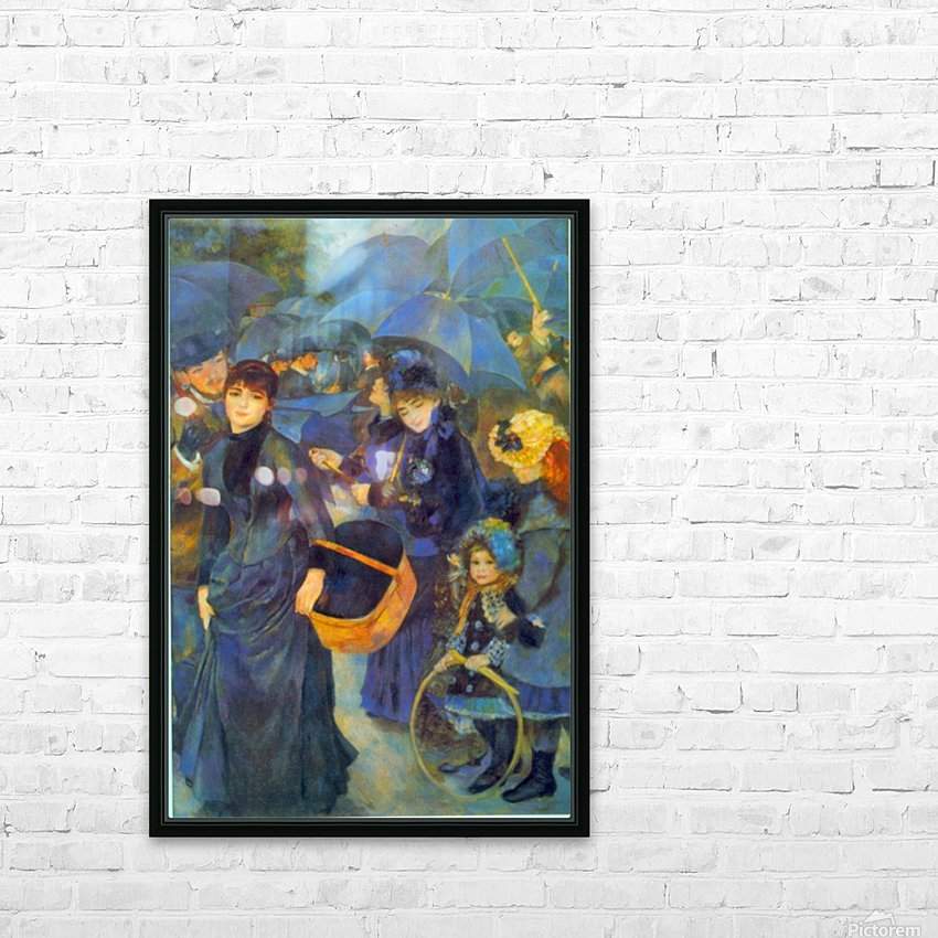 Les Para Pluies by Renoir HD Sublimation Metal print with Decorating Float Frame (BOX)