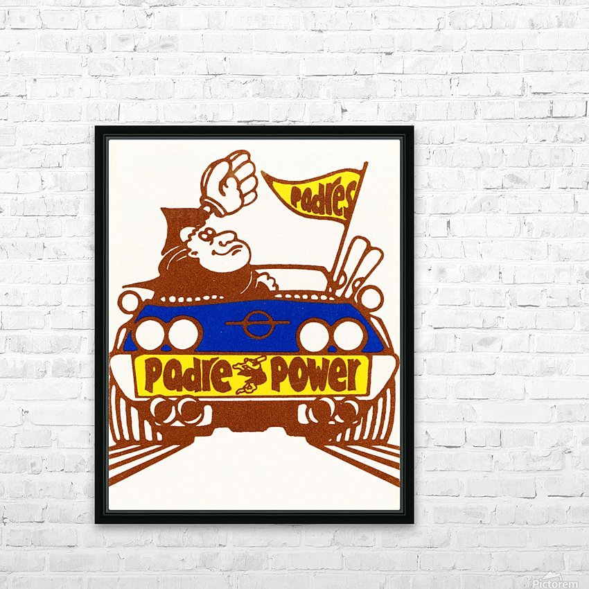 1976 padre power poster san diego HD Sublimation Metal print with Decorating Float Frame (BOX)