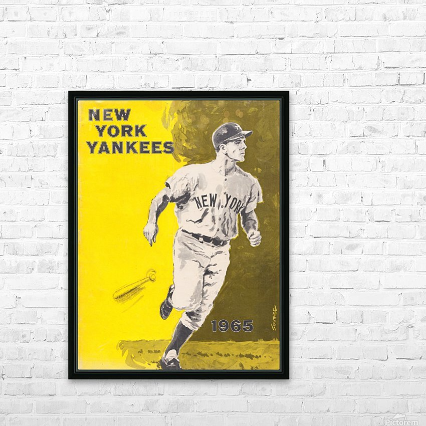 1965 new york yankees poster HD Sublimation Metal print with Decorating Float Frame (BOX)